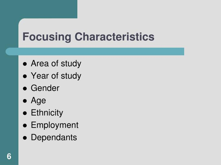 Focusing Characteristics