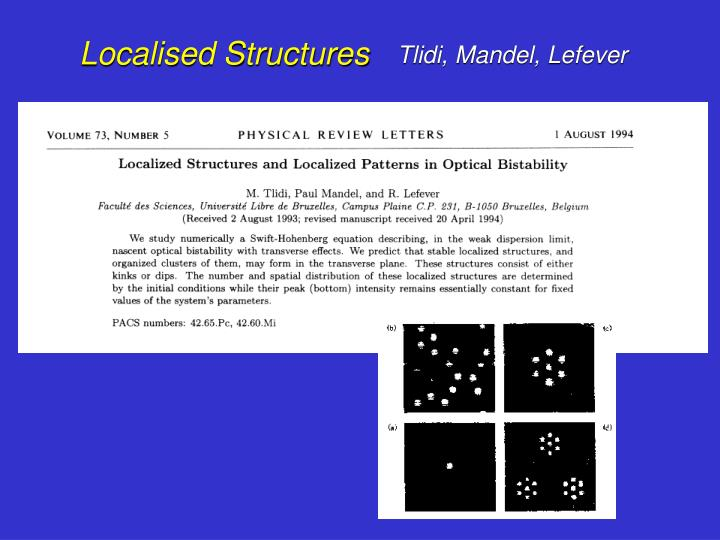 Localised Structures