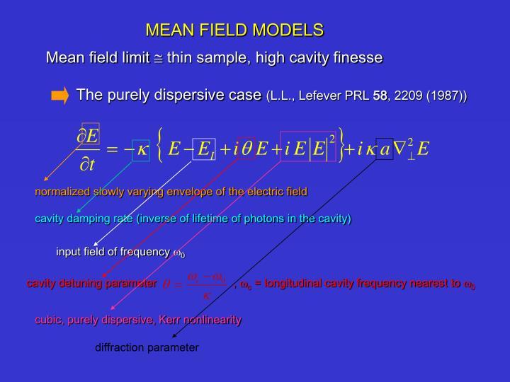 Mean field limit