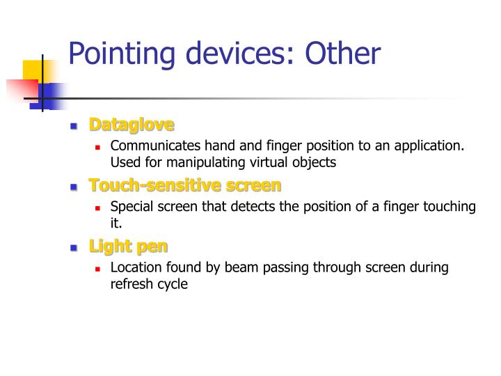 Pointing devices: Other