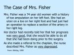 the case of mrs fisher