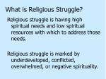 what is religious struggle
