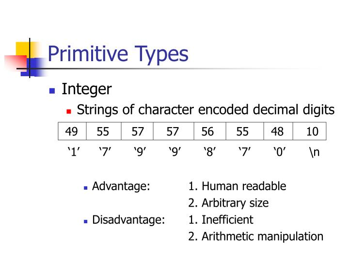 Primitive Types