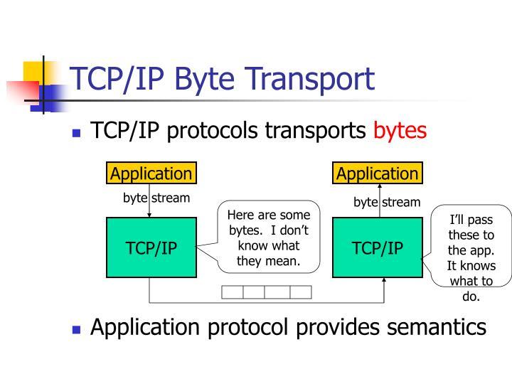 TCP/IP Byte Transport