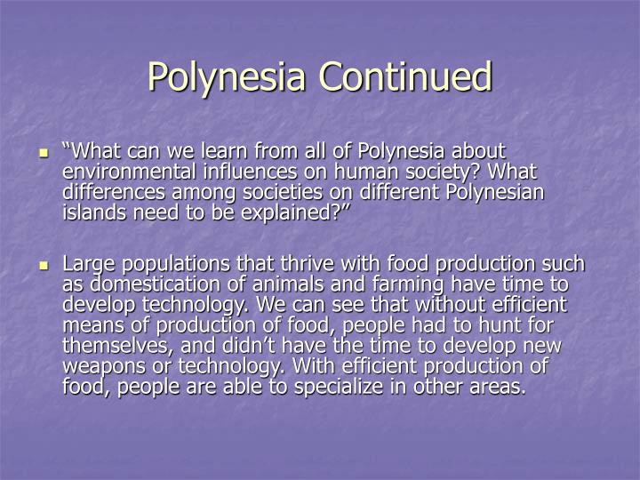 Polynesia Continued