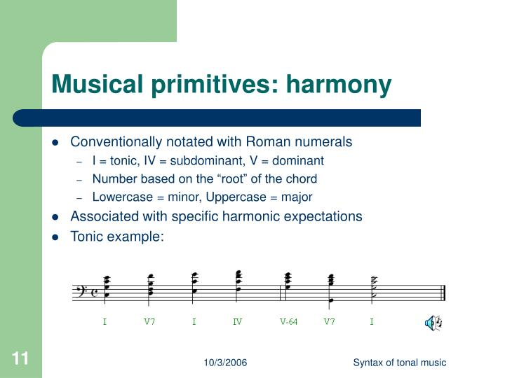 Musical primitives: harmony