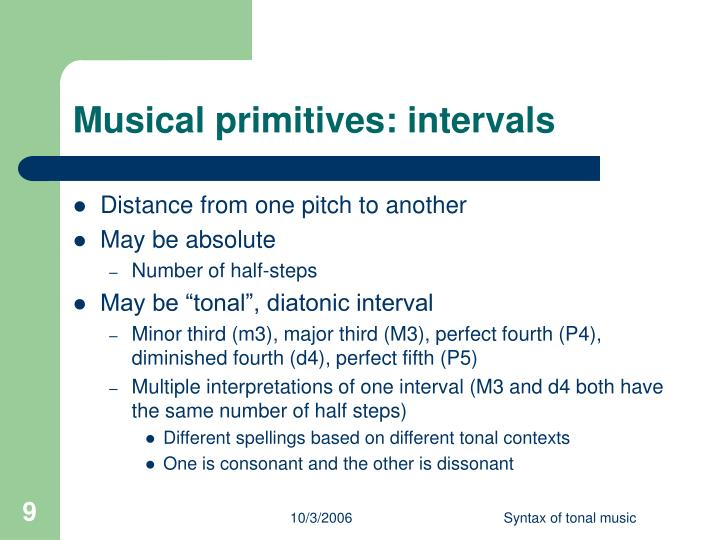 Musical primitives: intervals