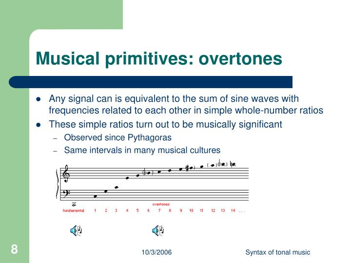 Musical primitives: overtones