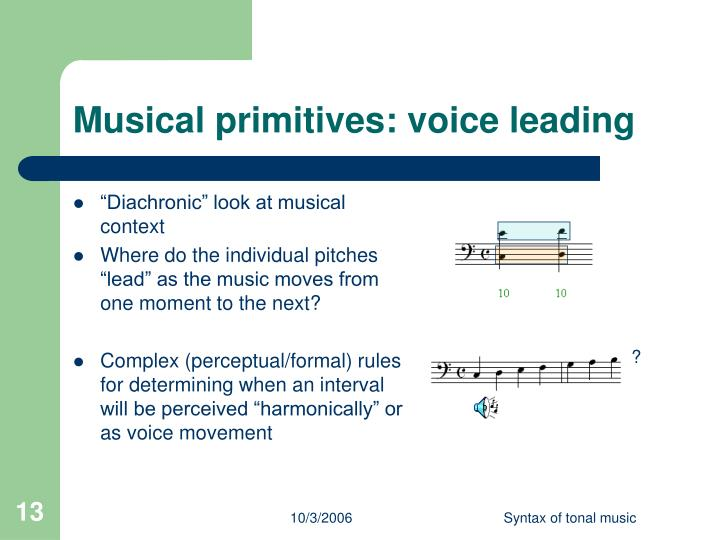 Musical primitives: voice leading