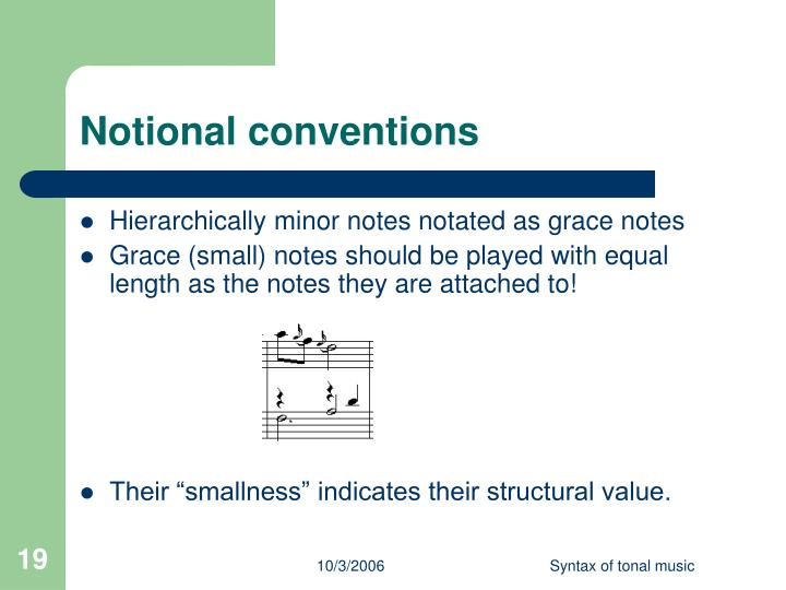 Notional conventions