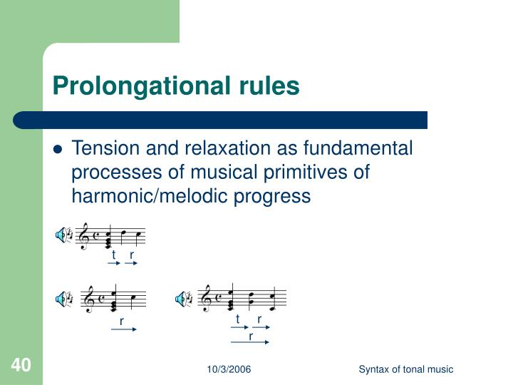 Prolongational rules