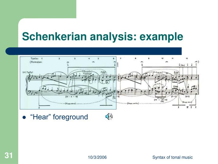 Schenkerian analysis: example