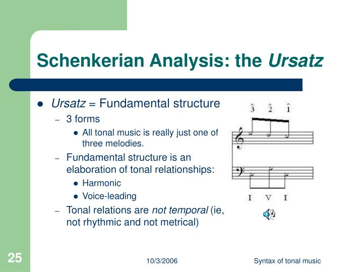 Schenkerian Analysis: the