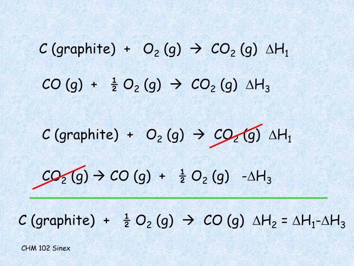 C (graphite)  +   O