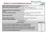 details of current reablement service