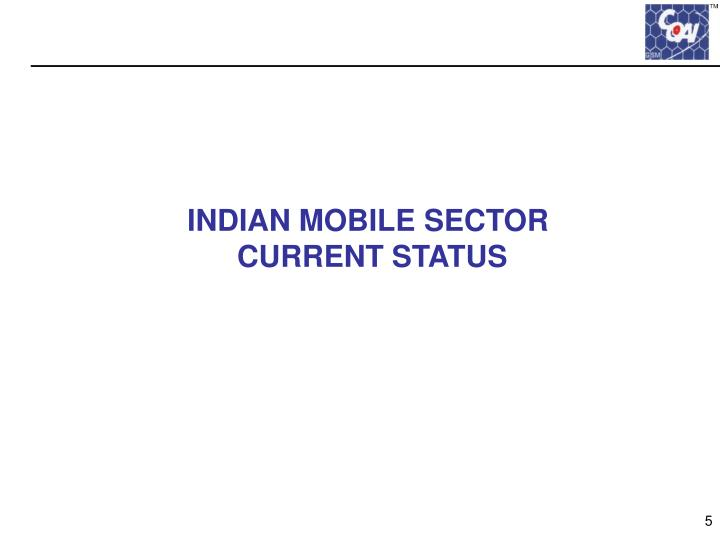 INDIAN MOBILE SECTOR