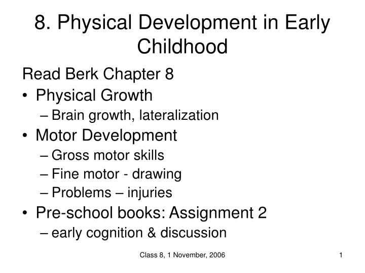 8 physical development in early childhood n.