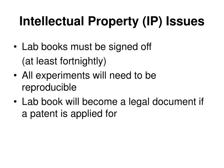 Intellectual Property (IP) Issues