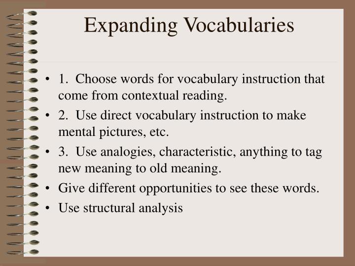 Expanding Vocabularies