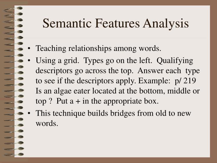 Semantic Features Analysis
