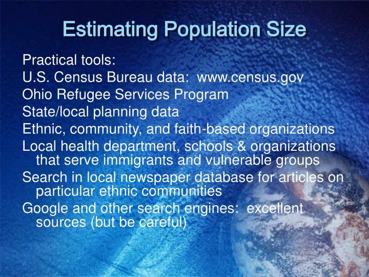 Estimating Population Size