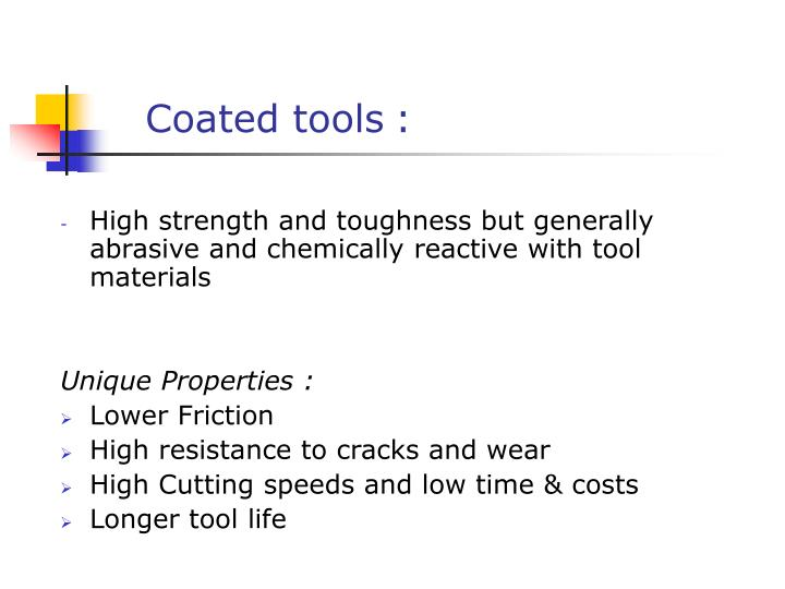 Coated tools
