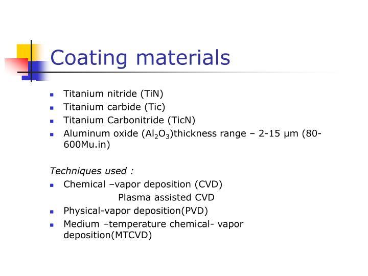 Coating materials