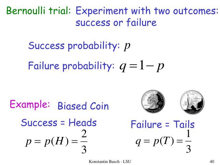 Bernoulli trial:
