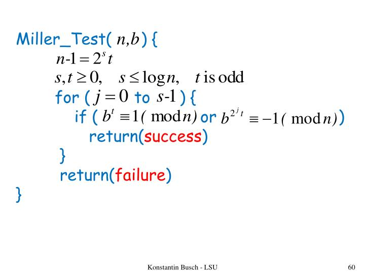 Miller_Test(      ) {