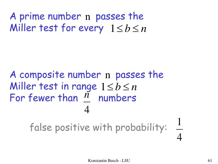 A prime number     passes the