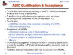 asic qualification acceptance