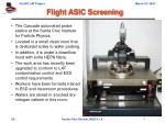 flight asic screening