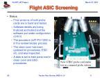 flight asic screening1