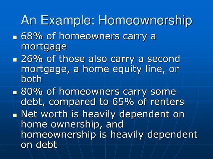 An example homeownership