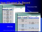 new esupport dl record1