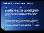 technical analysis conclusion