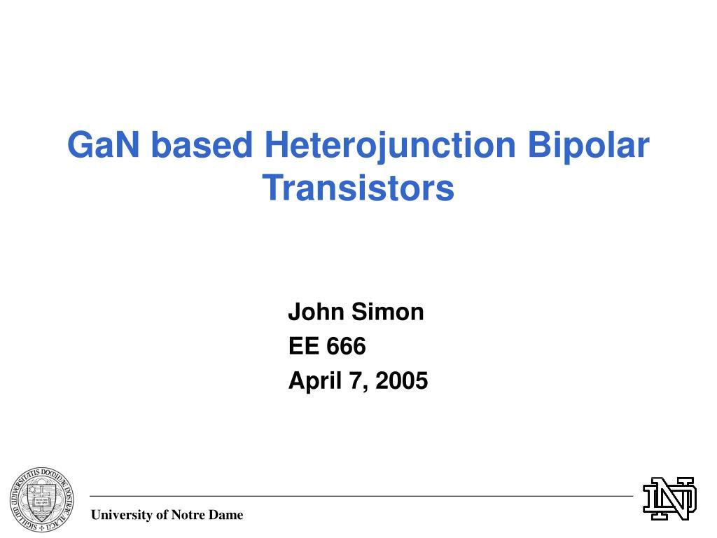 Ppt ultra high speed inp heterojunction bipolar transistors.
