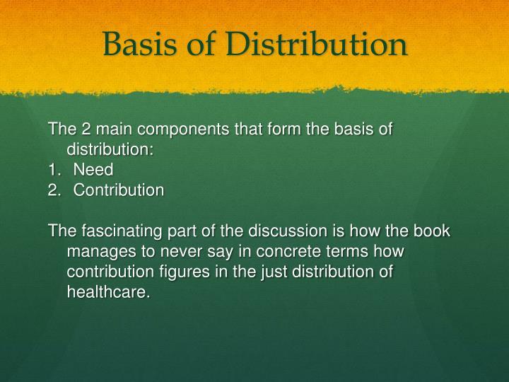 Basis of Distribution