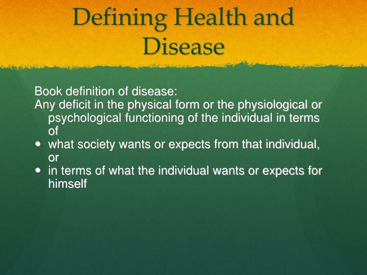 Defining Health and Disease