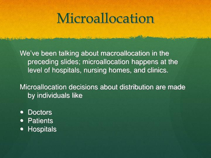 Microallocation