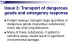 issue 3 transport of dangerous goods and emergency response