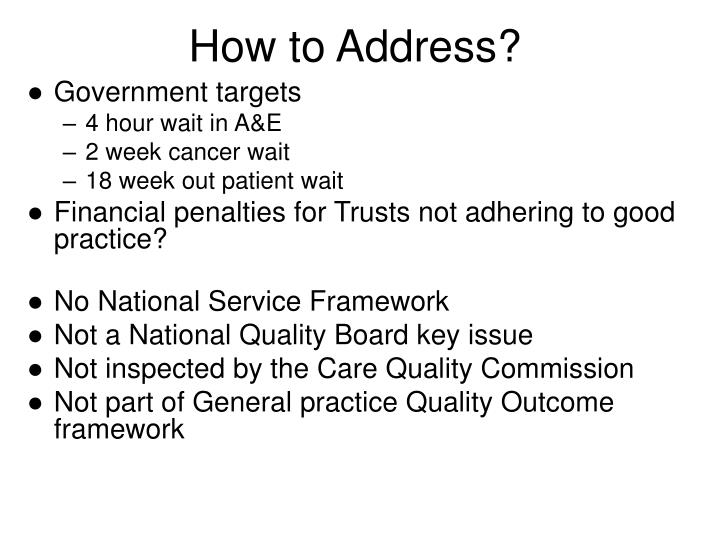 How to address