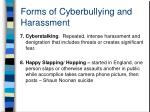 forms of cyberbullying and harassment2