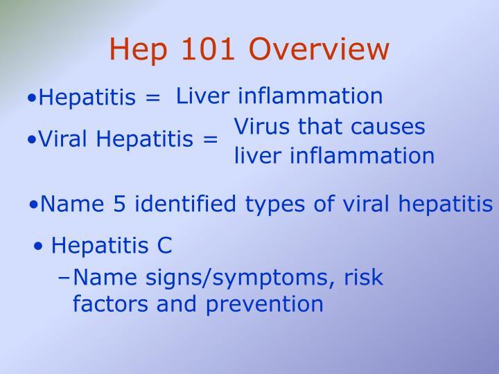 Hep 101 Overview