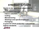 strenght s points