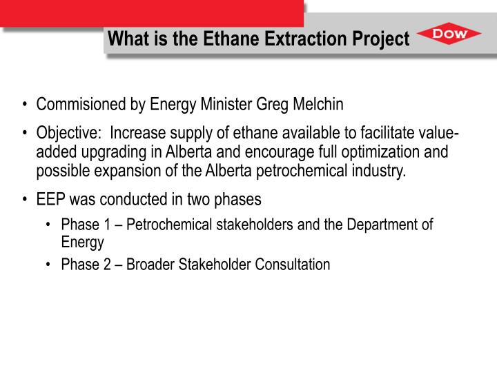 What is the Ethane Extraction Project