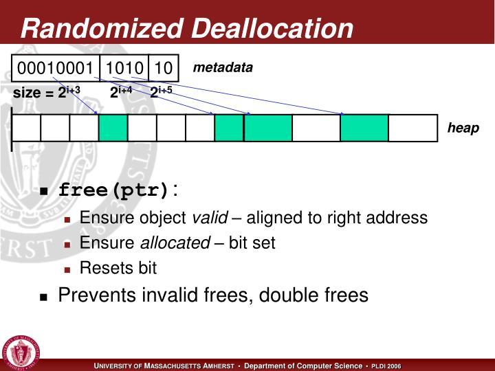 Randomized Deallocation