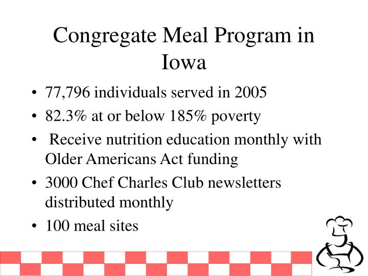 Congregate Meal Program in Iowa
