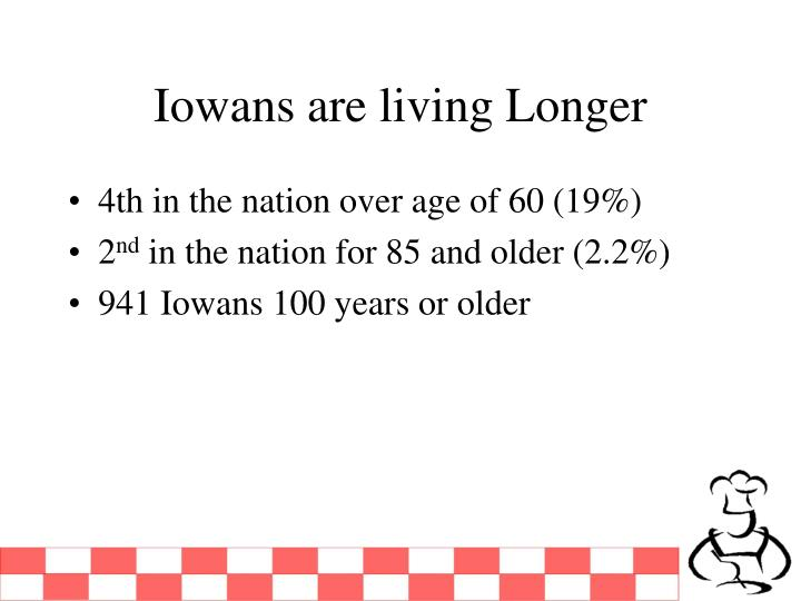Iowans are living longer