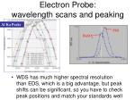 electron probe wavelength scans and peaking